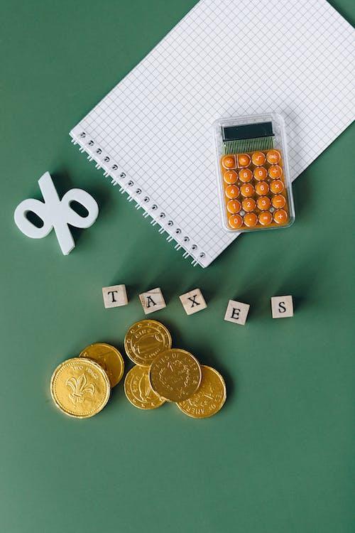 Immagine gratuita di calcolatrice, dichiarazione dei redditi, griglia