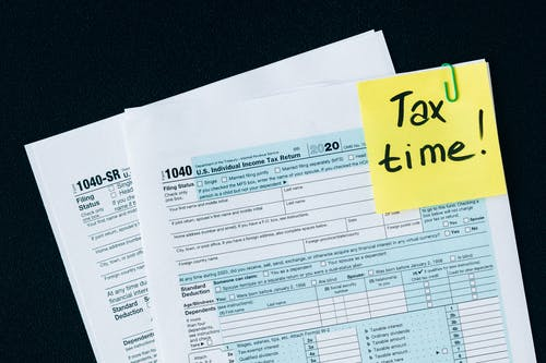 Tax Documents on the Table
