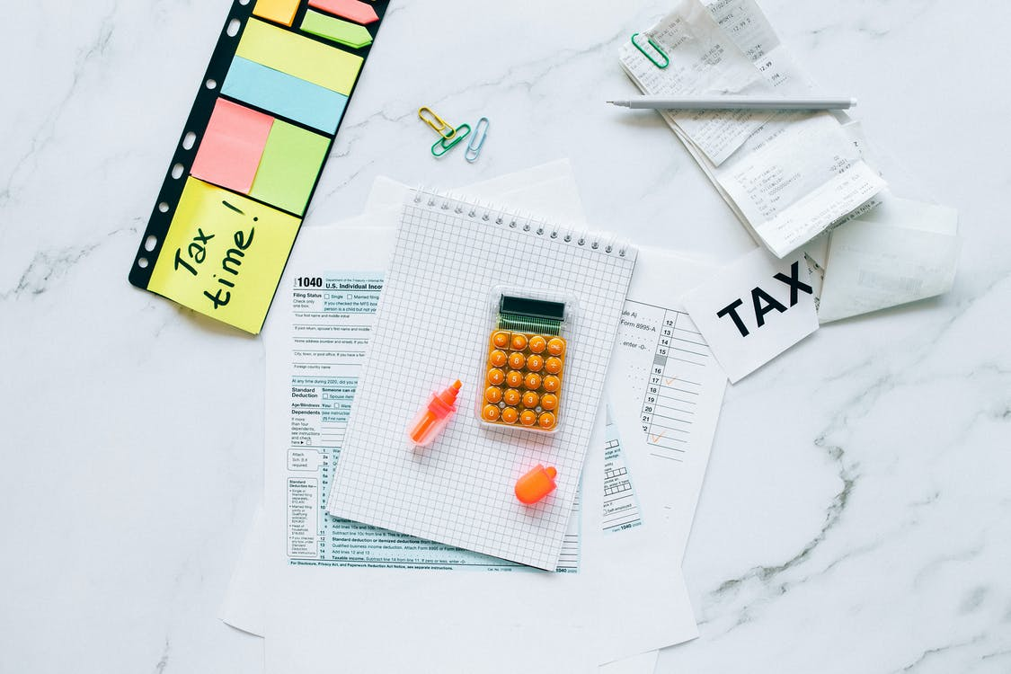 Tax Documents on Marble Table