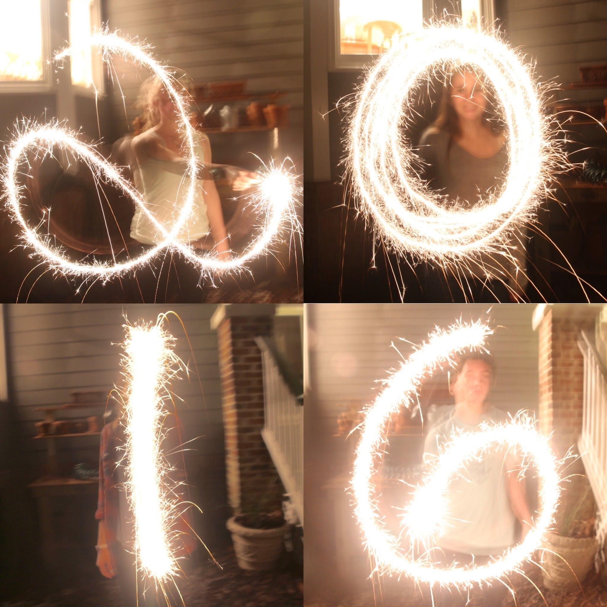 Gratis lagerfoto af 2016, gnister, nytår, stjernekastere