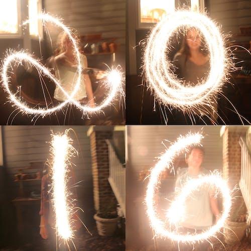 2016, 新年, 火花, 電光 的 免費圖庫相片