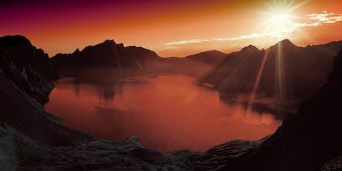 คลังภาพถ่ายฟรี ของ ดวงอาทิตย์, ตะวันลับฟ้า, ทัศนียภาพ, ธรรมชาติ
