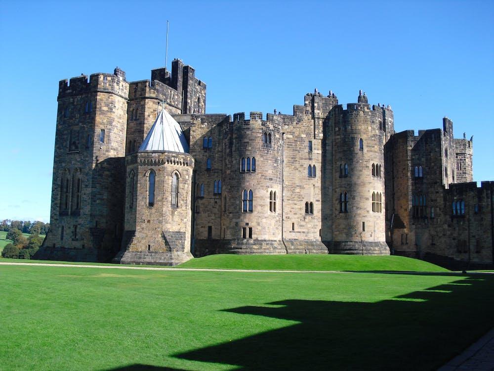 Person Showing Castle