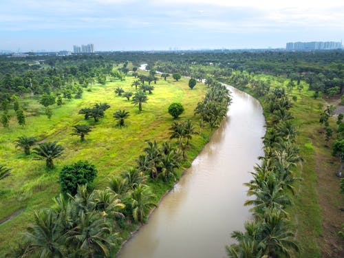 Aerial Footage of Water Channel