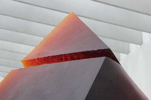 Red Triangular Shape Ornament