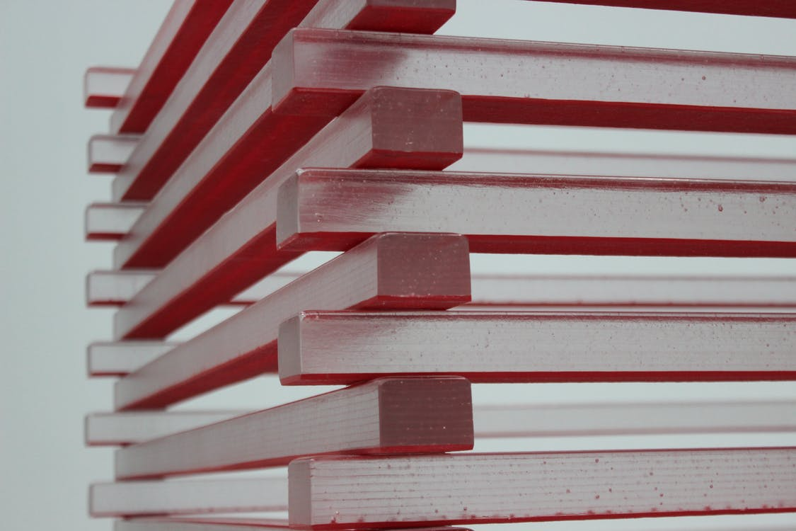 White and Red Piled Sticks