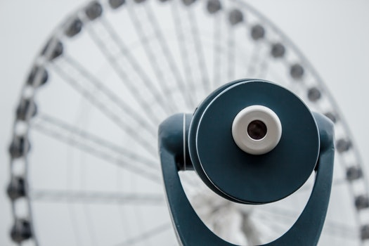 Free stock photo of ferris wheel, view, circle, binoculars
