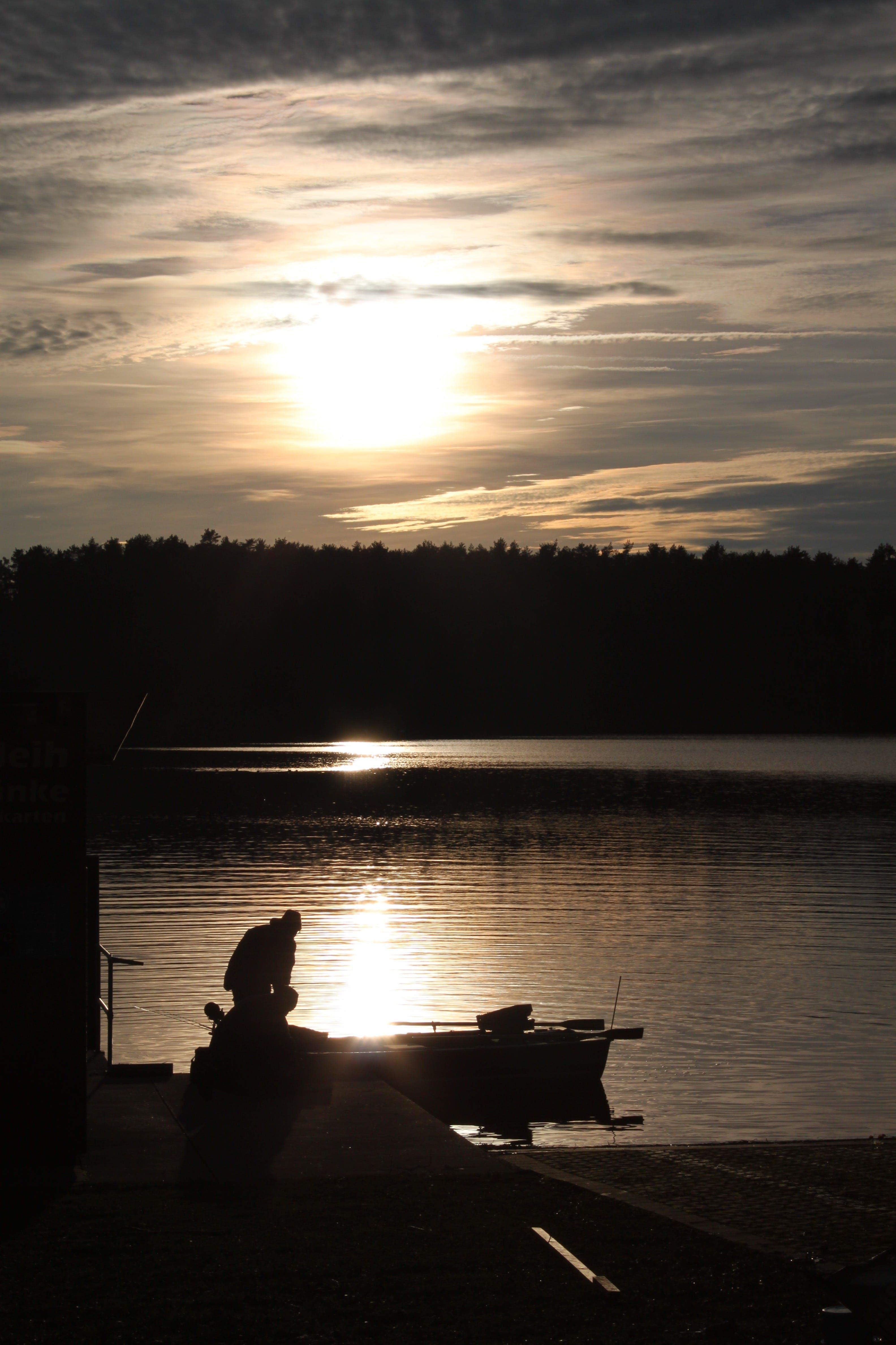 Free stock photo of fishing, landscape, nature, sunset
