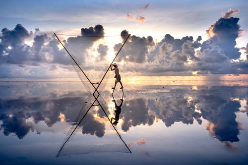 คลังภาพถ่ายฟรี ของ กับดักปลา, การทำมาหากิน, การสะท้อน