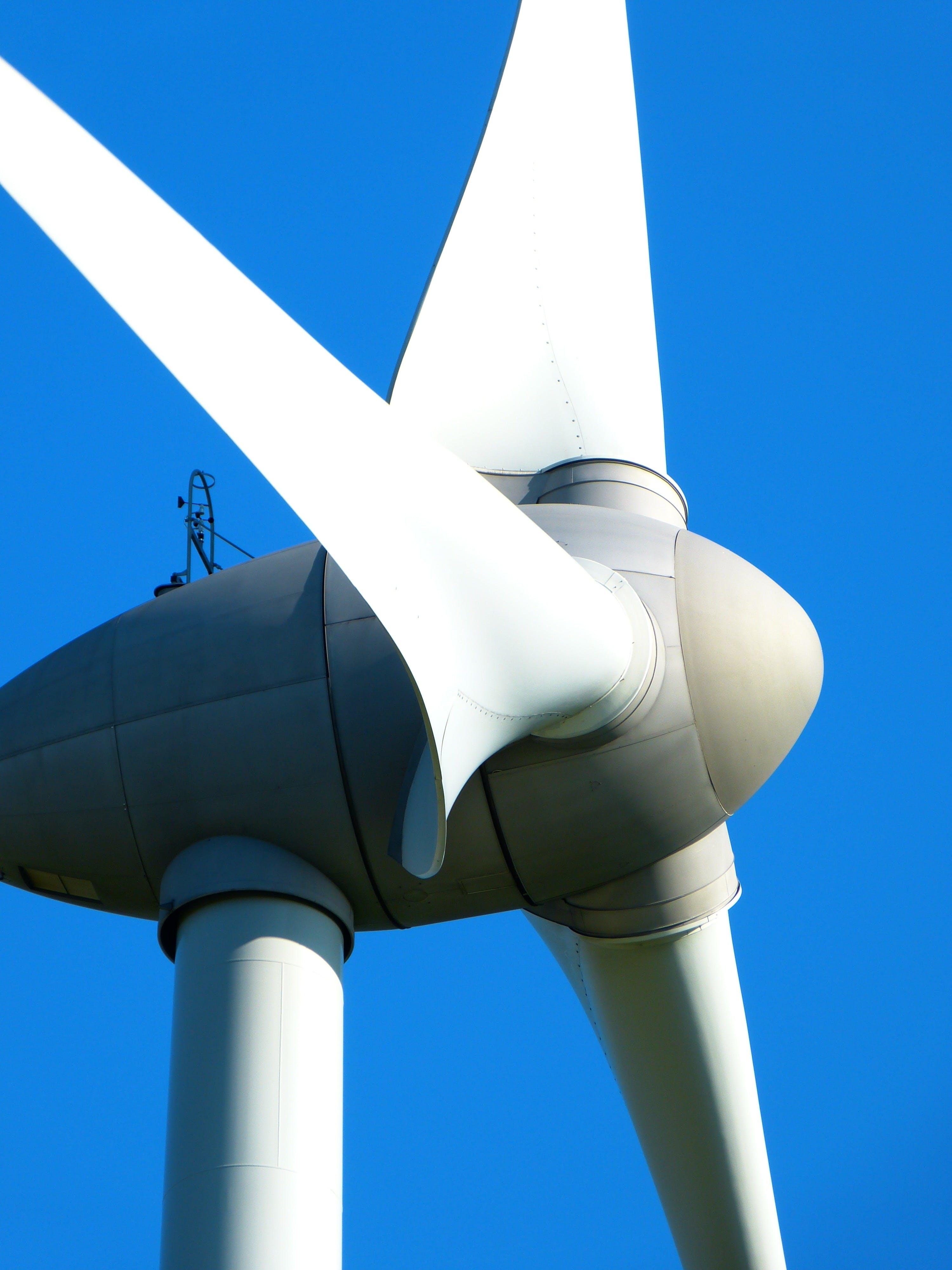 White 3 Bladed Wind Fan