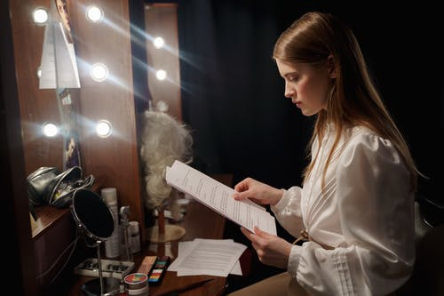 Woman Reading A Script
