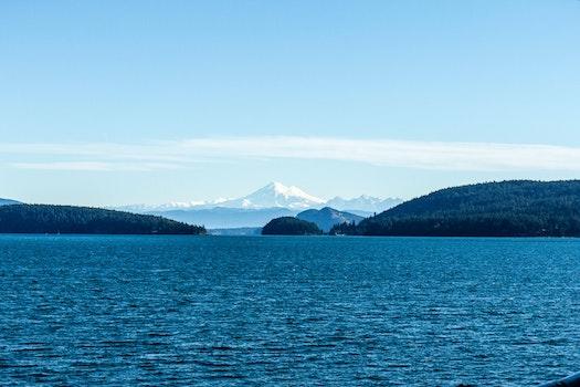HD wallpaper of sea, landscape, water, blue
