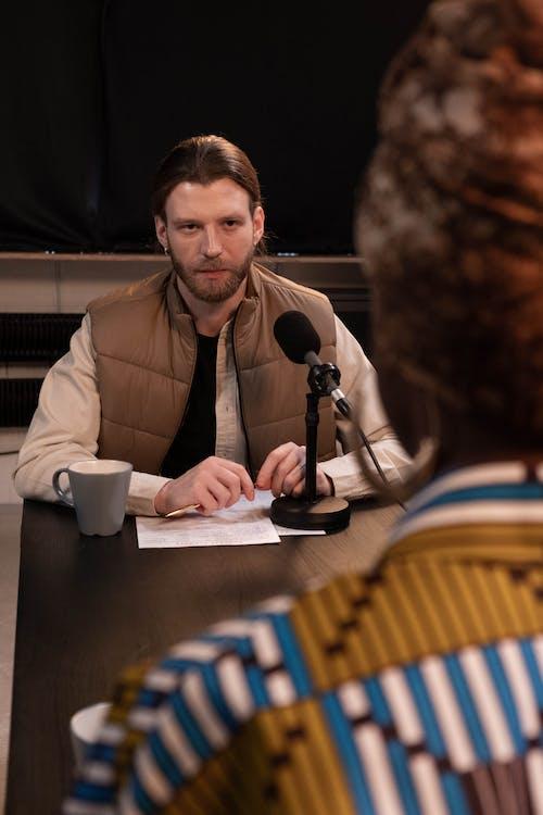 Man Wearing a Puffer Jacket