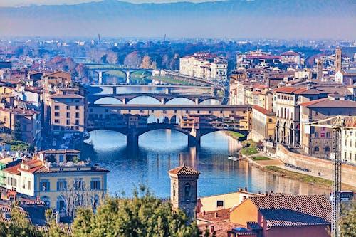 경치, 다리, 이탈리아, 피렌체의 무료 스톡 사진