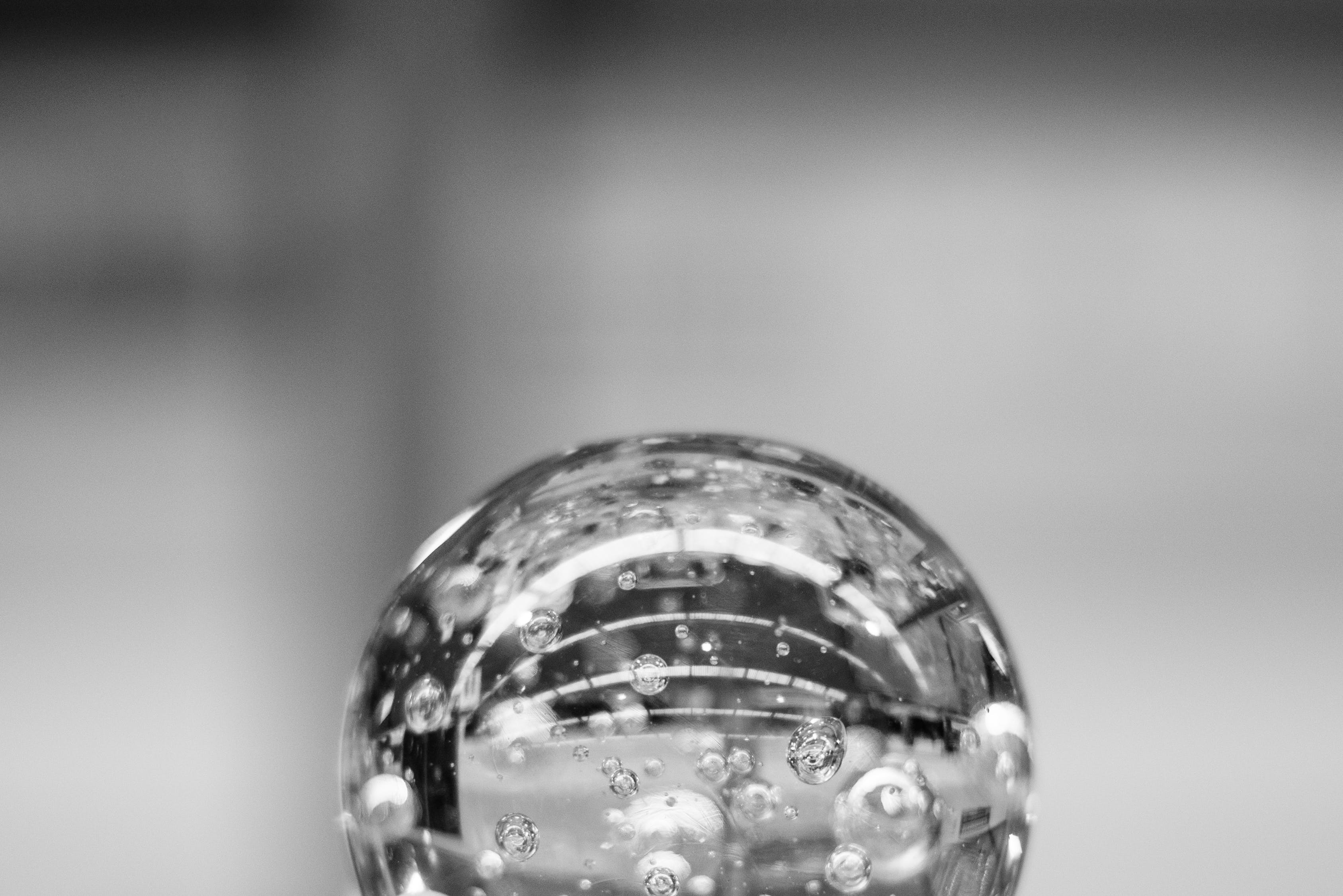 Free stock photo of black-and-white, water, wet, sphere