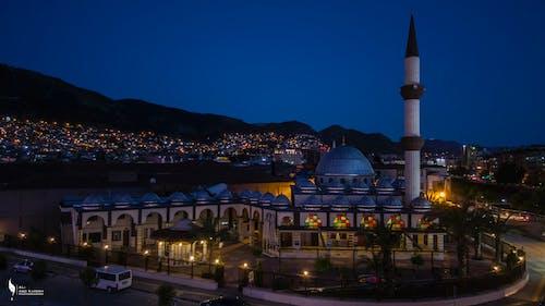Foto d'estoc gratuïta de ciutat, gall dindi, mesquita, nit
