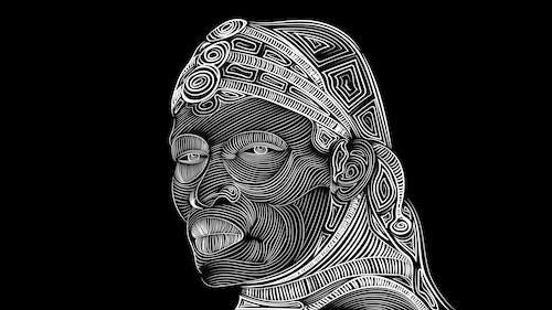 Free stock photo of black, line art, maasai