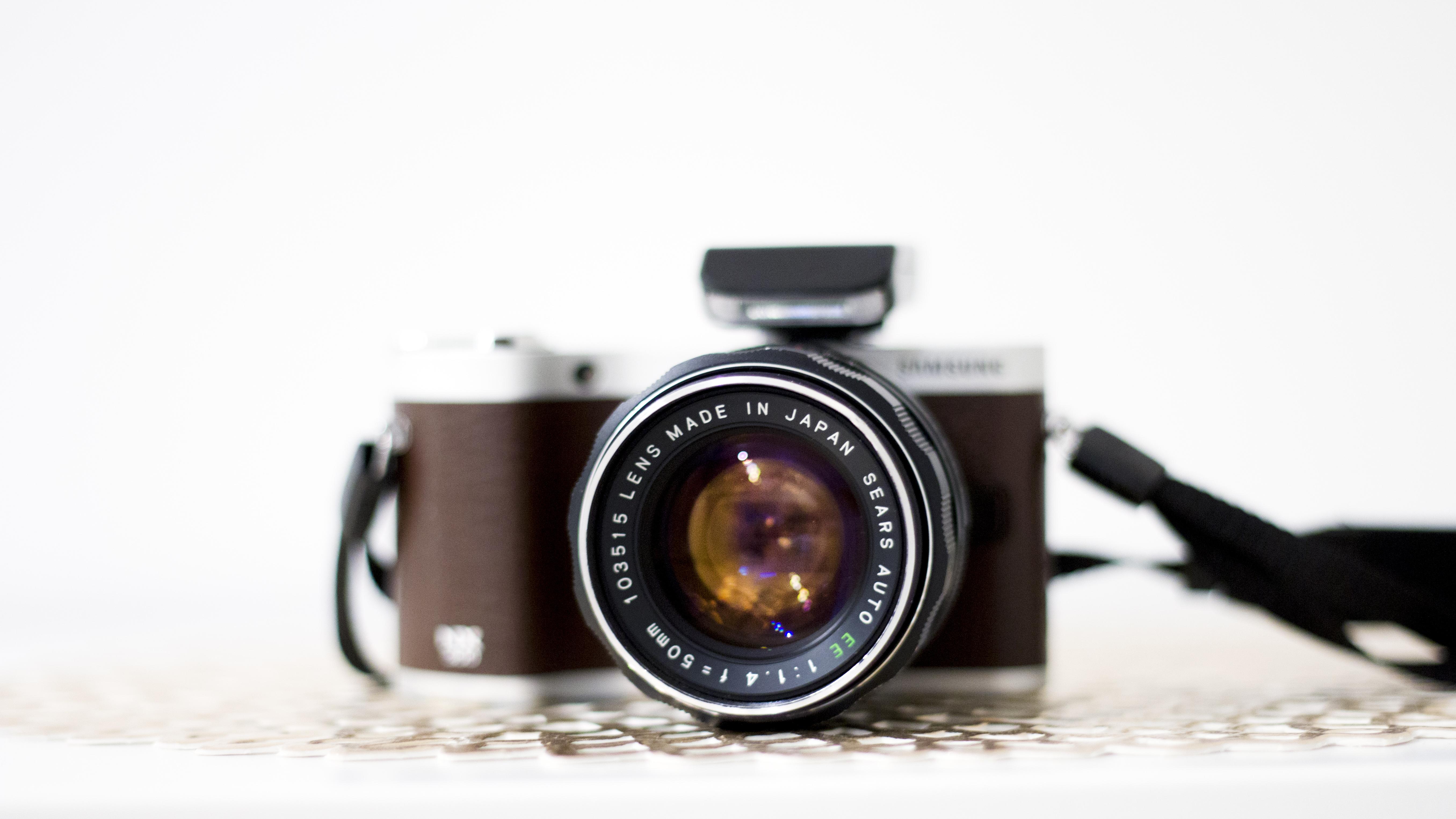 Black and Brown Dslr Camera