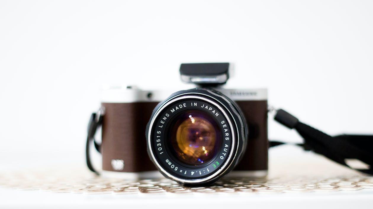 analogowy, antyczny, aparat