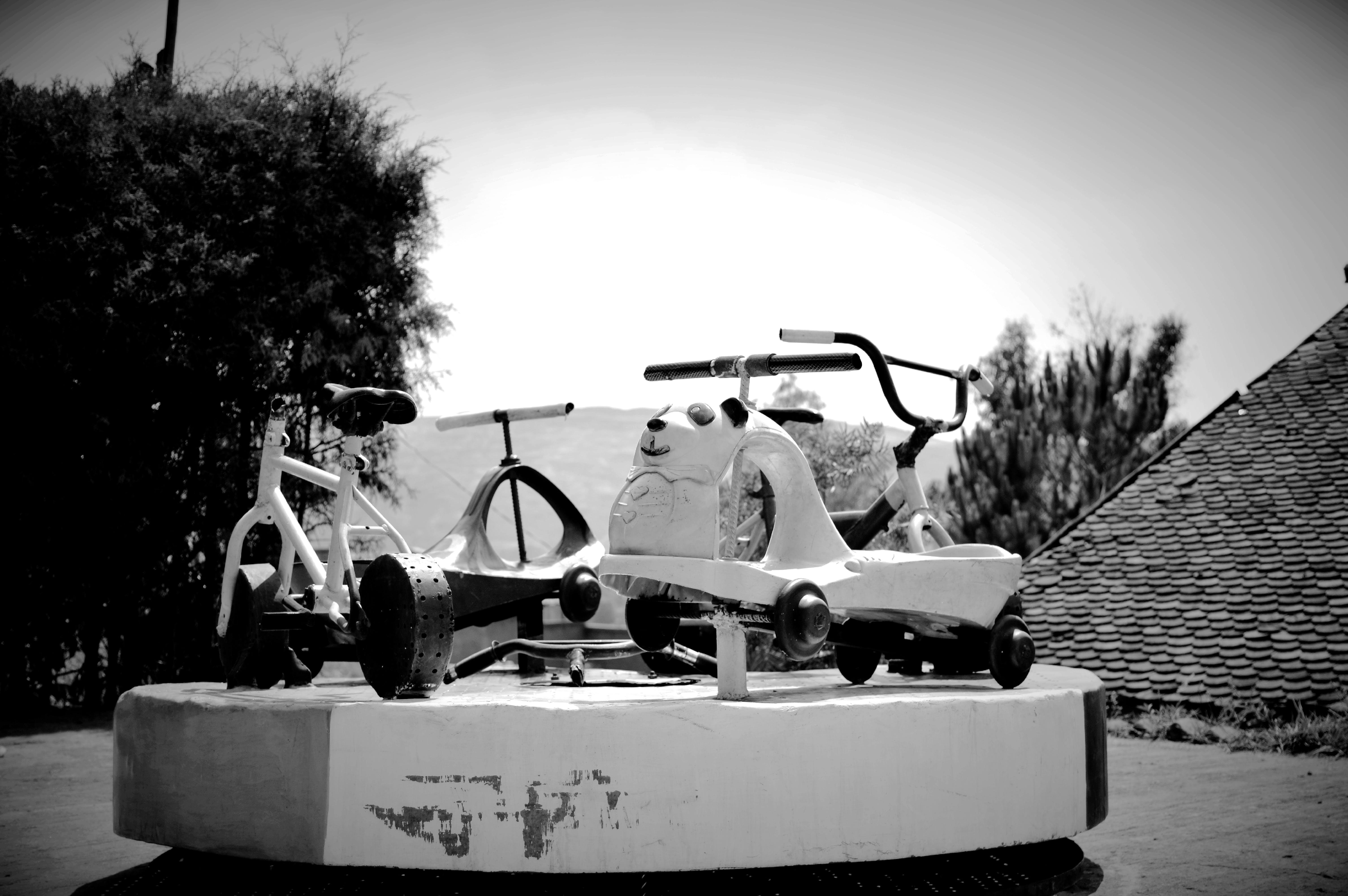 Free stock photo of black and white, kid, playground