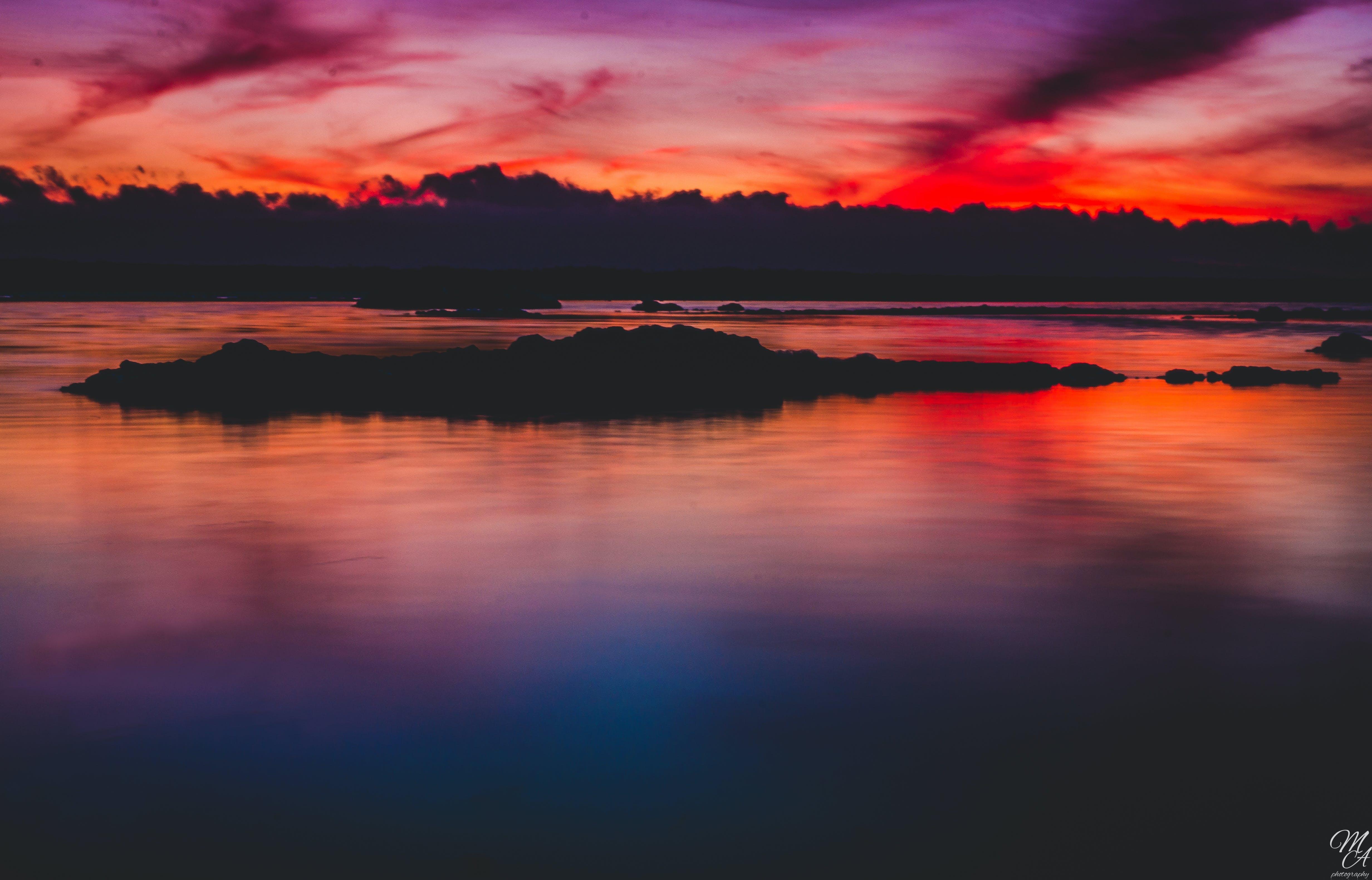 Free stock photo of sky, sunset, blue, purple