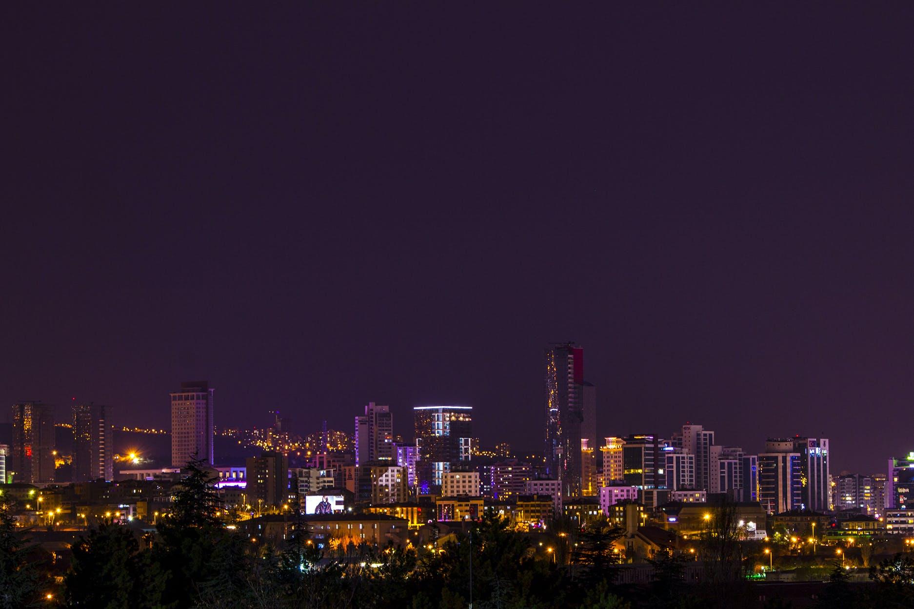 城市, 城市生活, 城市的燈光, 天空 的 免费素材照片