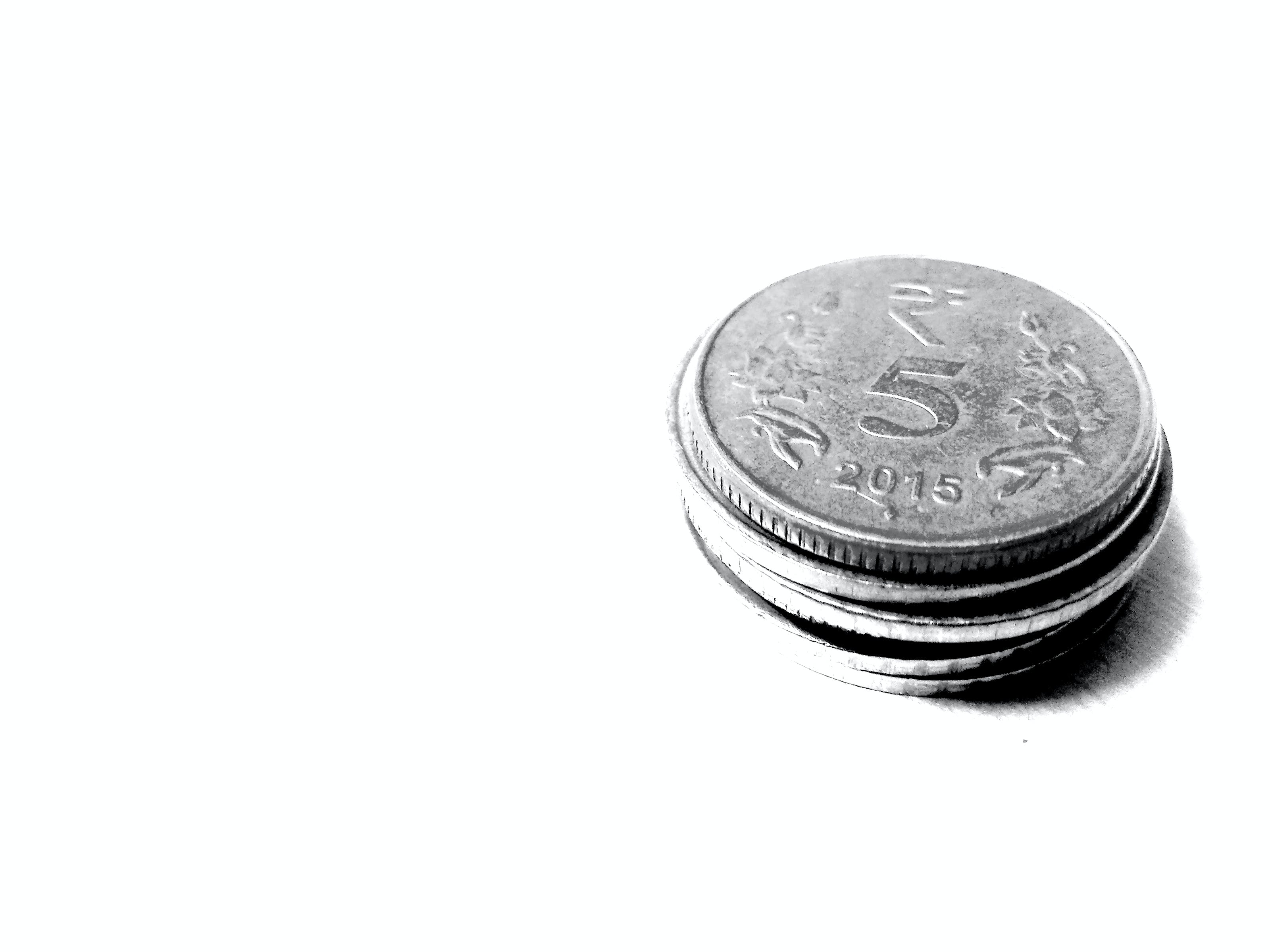 Free stock photo of black&white, black-and-white, coins, india
