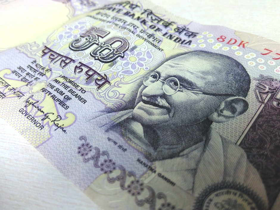 50 rupee, banknote, currency