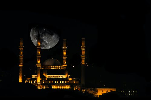 Free stock photo of ankara, full moon, kocatepe, moon