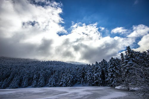 Gratis lagerfoto af blå himmel, forkølelse, frossen sø, himmel