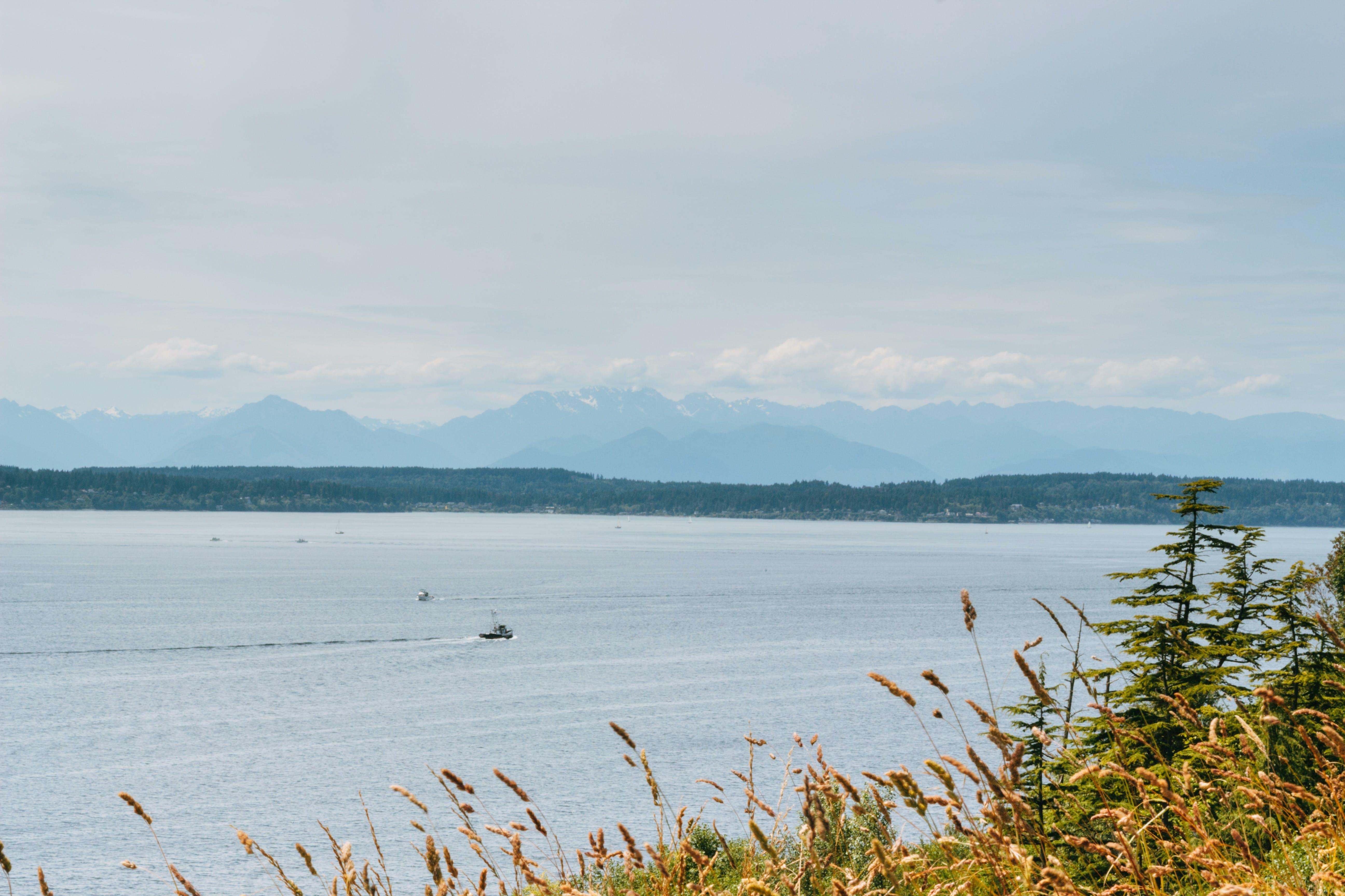 lake, mountains, nature