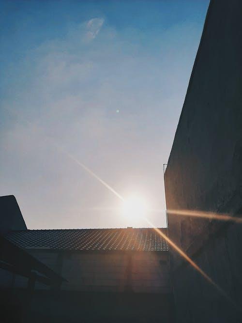 Free stock photo of blue sky, evening sun, sun