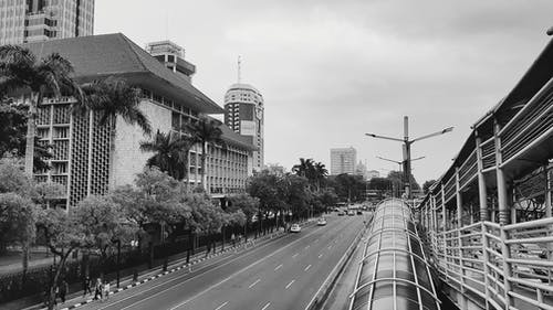 Free stock photo of black and white, city photography, City Street