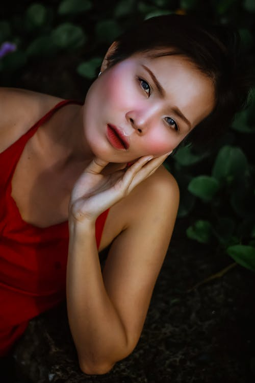 Woman in Red Tank Top