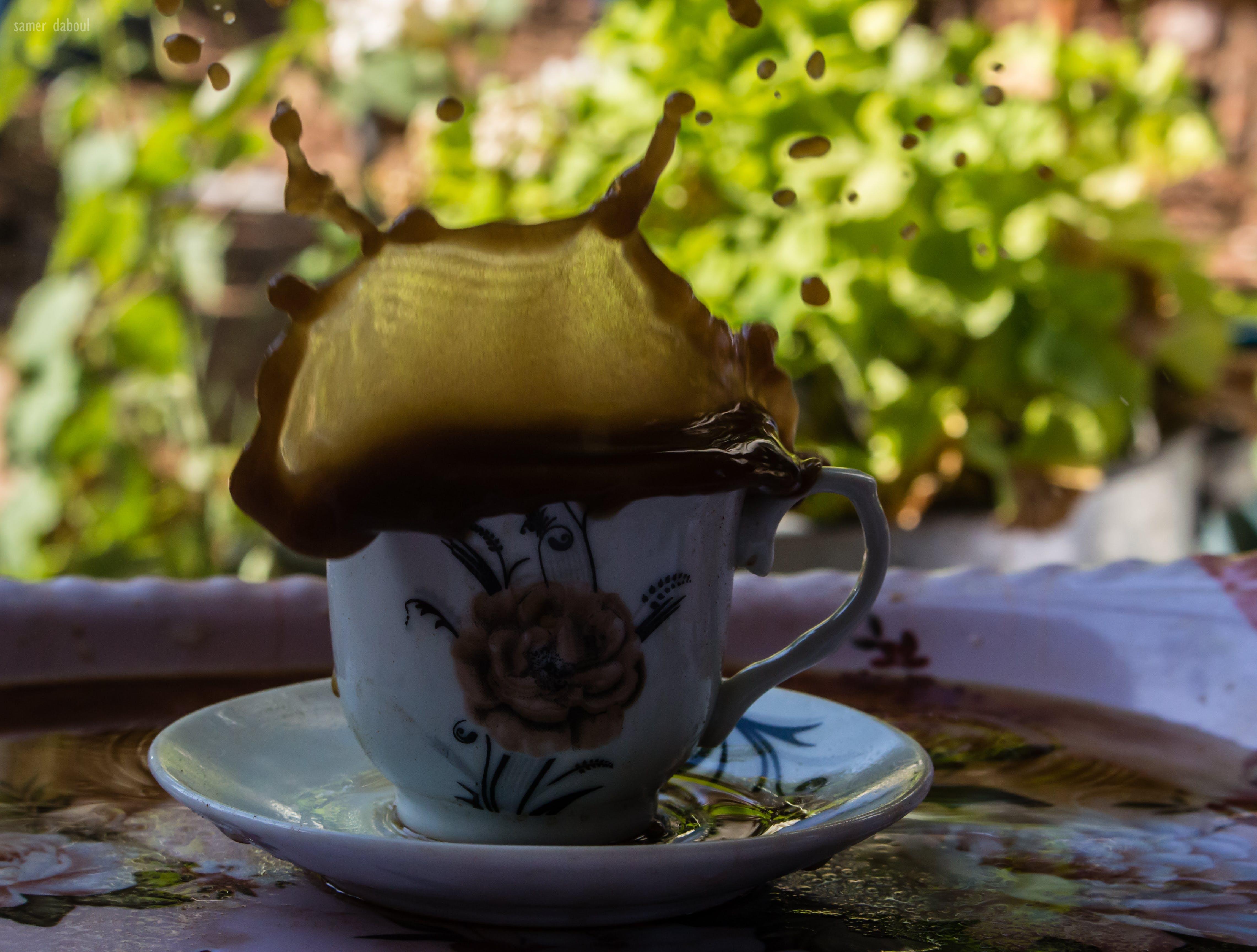 Free stock photo of coffee, coffee bean, coffee cup, color splash