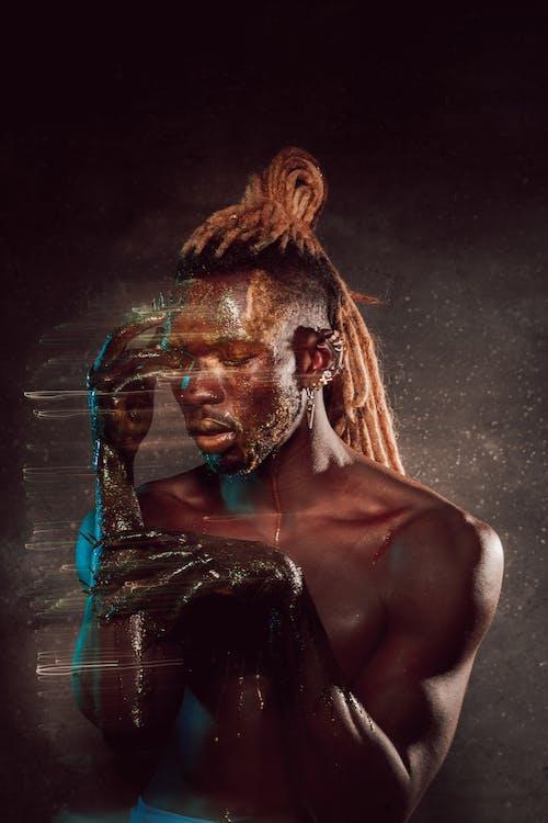 Kostnadsfri bild av africano, afro, bar överkropp