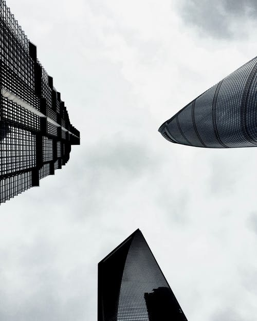 Low Angle Photo of Three High-rise Buildings