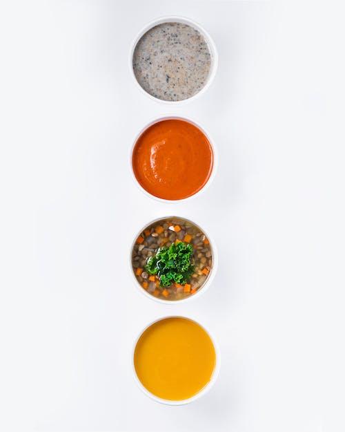 2 Orange Juice on White Table