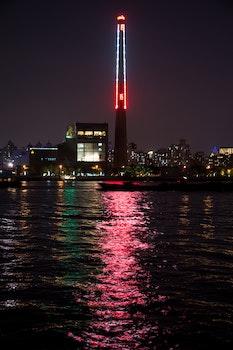 Kostenloses Stock Foto zu meer, stadt, rot, nacht