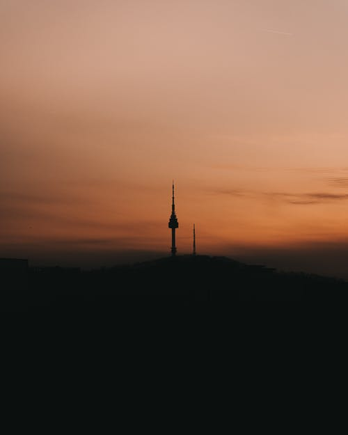 Silhouette Of a Tall Tower