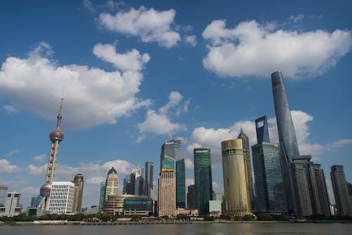 上海, 城市, 建築, 藍天 的 免费素材照片