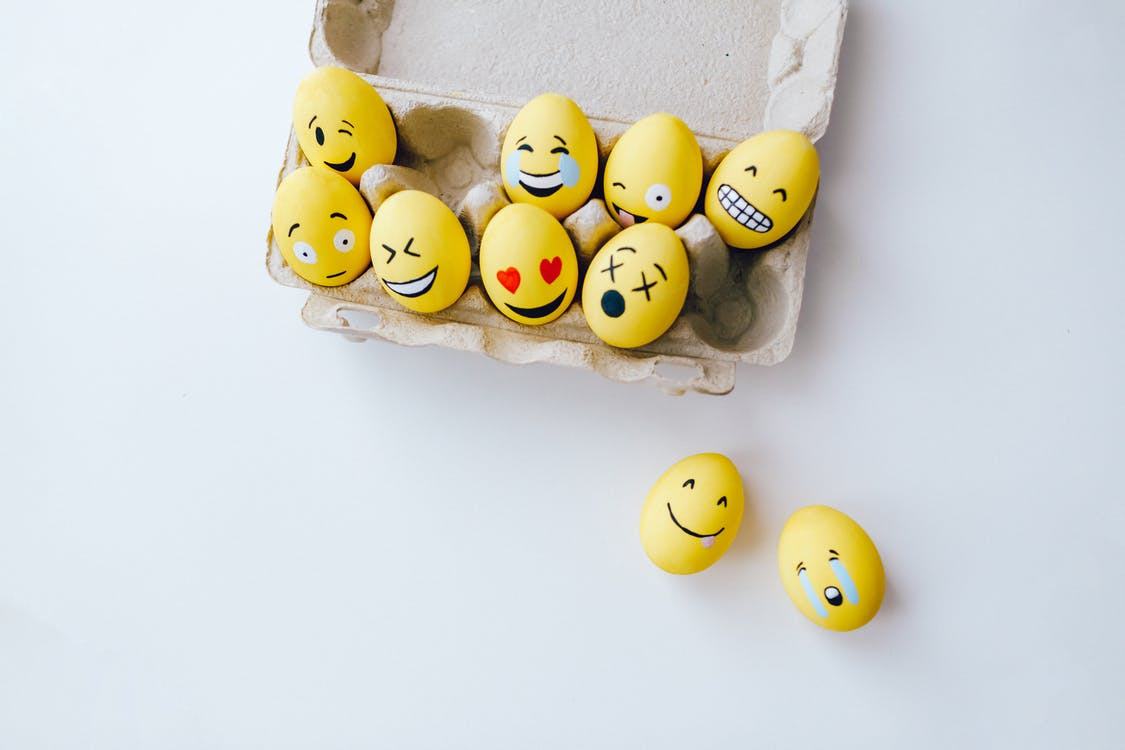 Yellow Painted Eggs