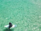 sea, water, surfer
