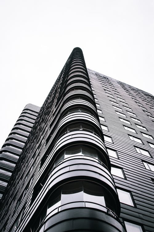 Black and White Concrete Building