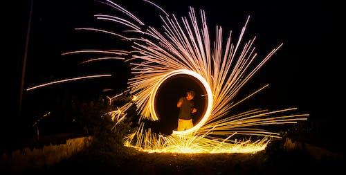 Foto d'estoc gratuïta de amb gas, colorit, creatiu, deixant de llum