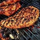 food, fire, meat
