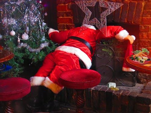 Free stock photo of Pissed Santa