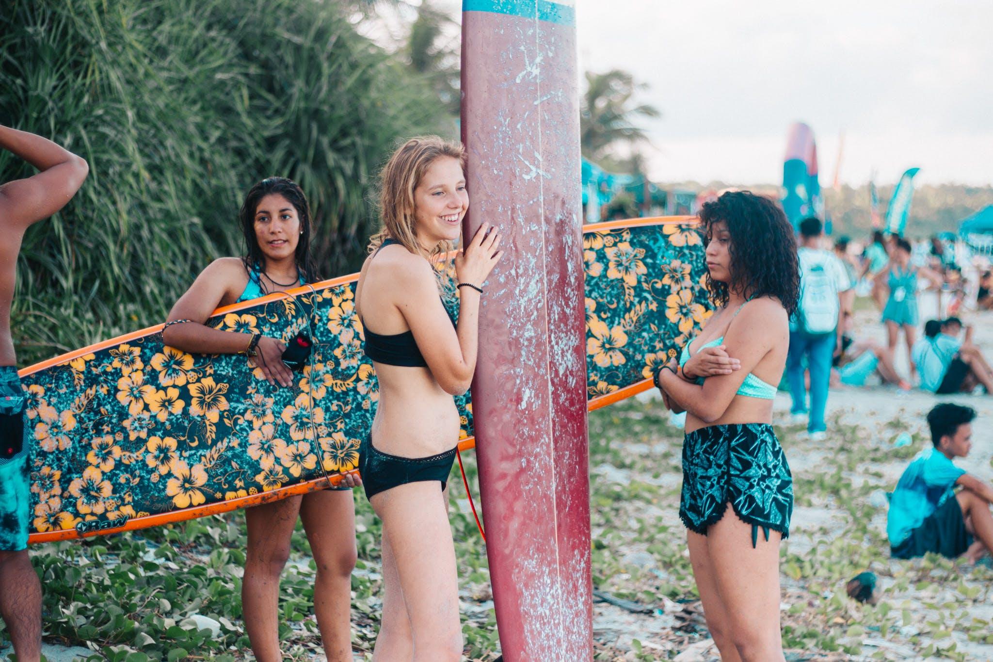 Základová fotografie zdarma na téma buenavista surf camp, dovolená, holky, léto