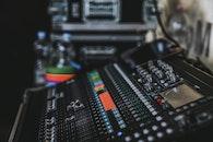 desk, technology, blur