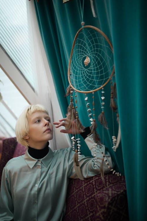 Foto profissional grátis de apanhador de sonhos, decorativo, feito à mão